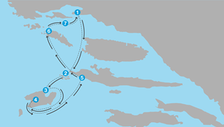 Sailing routes in Croatia
