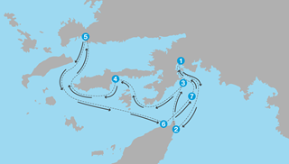 Sailing routes in Turkey