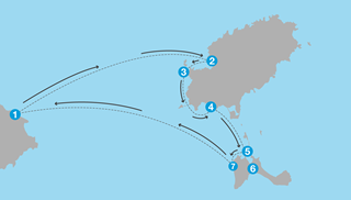 Sailing routes in Spain