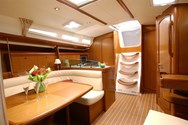 Interior of a yacht charter in Croatia 2