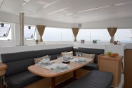 Interior of a yacht charter in Baiona 3