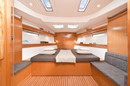 Interior of a yacht charter in Corsica 3