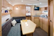 Interior of a yacht charter in St Martin 4