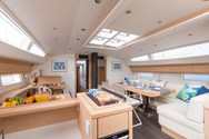 Interior of a yacht charter in Italy 1