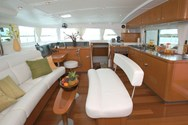 Interior of a yacht charter in Menorca 1