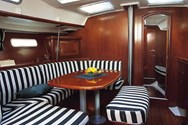 Interior of a yacht charter in the British Virgin Islands 1