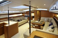 Interior of a yacht charter in Paros 1