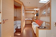 Interior of a yacht charter in Greece 1