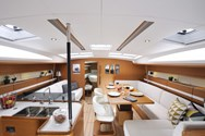 Interior of a yacht charter in Mykonos 3