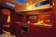Interior of a yacht charter in the British Virgin Islands 2