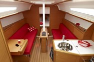 Interior of a yacht charter in Sweden 1