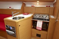 Interior of a yacht charter in Sweden 2