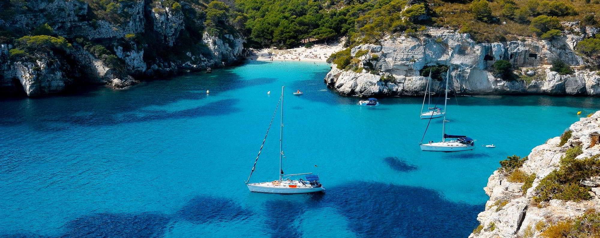 Yacht charter in Menorca